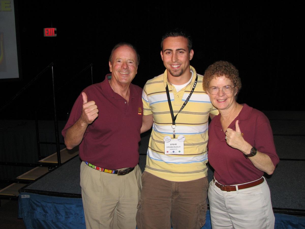 Steve with John and Martha King